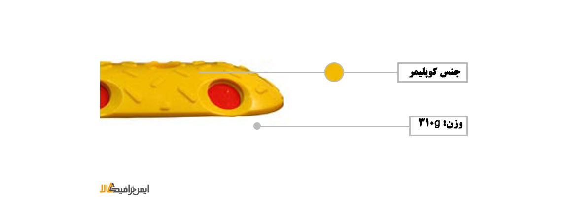 سرعت گیر پلاستیکی 12*33 , تجهیزات ترافیکی , سرعتگیر , سرعت گیر جاده ای