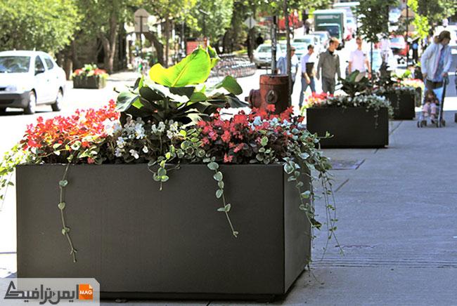 راهنمای خرید انواع گلدان های شهری در ایمن ترافیک